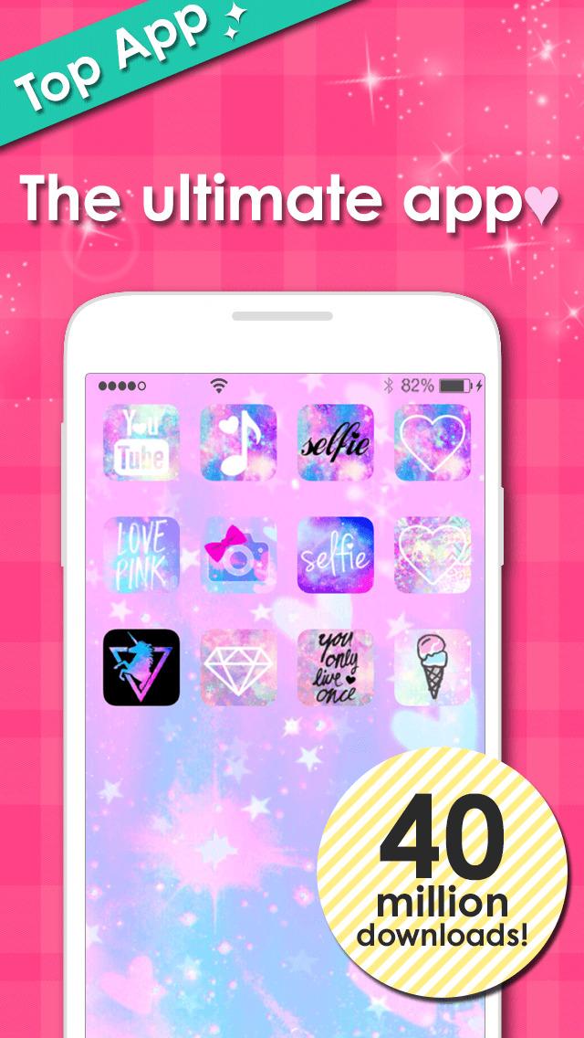 cute icon&wallpaper dressup - CocoPPa Screenshot