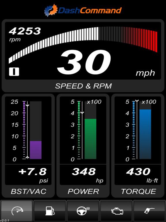 dashcommand obd ii gauge dashboards scan tool on the. Black Bedroom Furniture Sets. Home Design Ideas