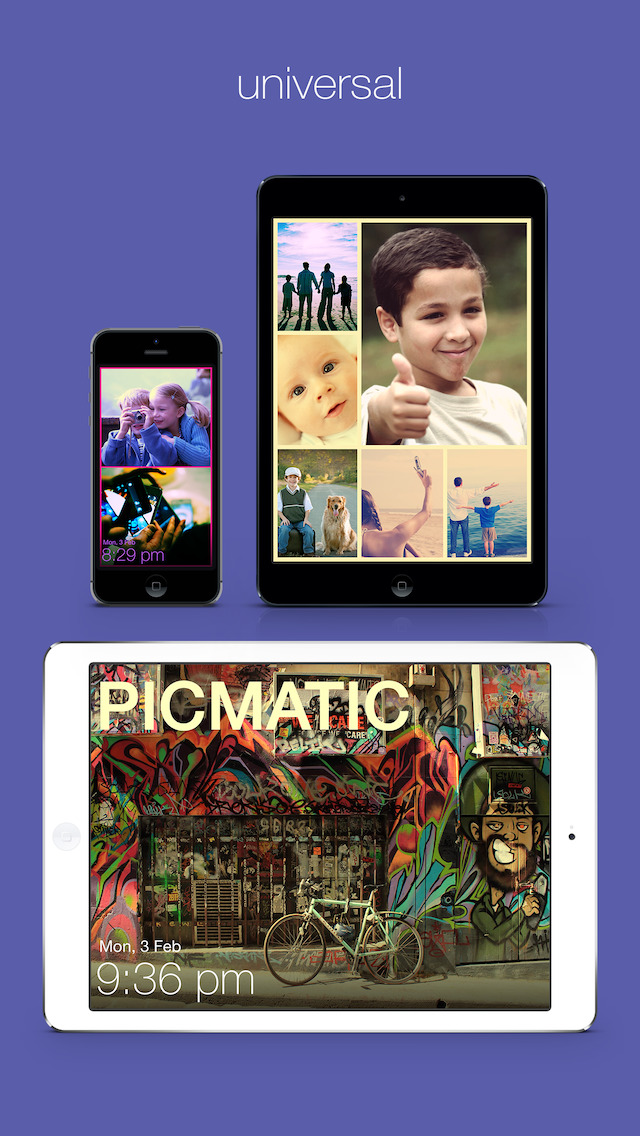 Picmatic - Digital Photo Frame + Music Control + Clock screenshot-4