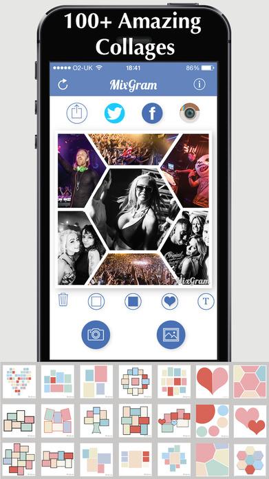 Mixgram - Picture Collage Maker - Photo Pic Editor Screenshot