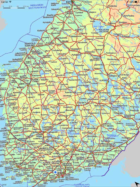 Maantiekartta Suomi