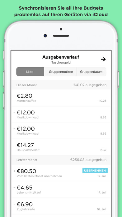 Pennies – Budget-und Expense-Manager Screenshot