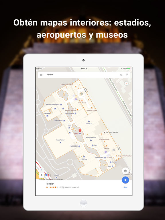 Google Maps: Navegación y tránsito Screenshot