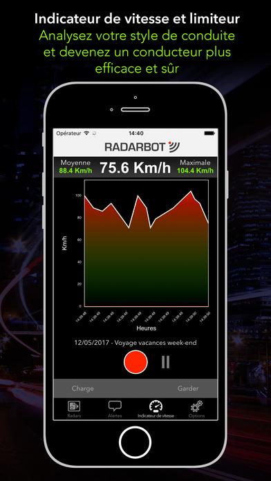 radarbot avertisseur de radars alertes et trafic 2 1 pour ios android windows phone. Black Bedroom Furniture Sets. Home Design Ideas