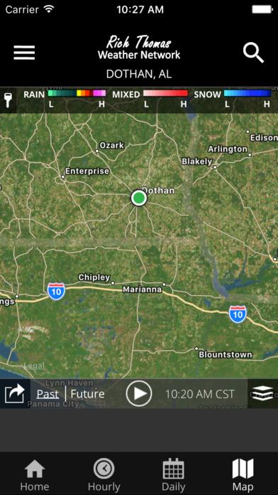 Rich Thomas Weather Network Screenshot