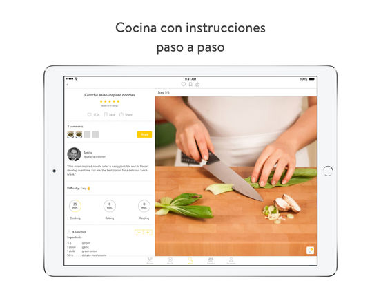 Kitchen Stories - libro de cocina Screenshot