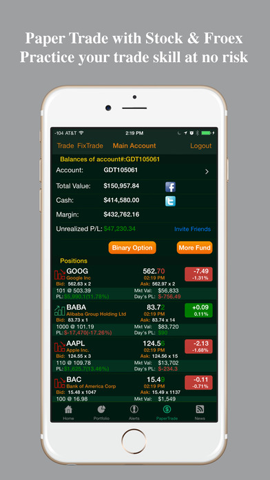 Stocks Tracker : Real-time stock,forex and chart Screenshot
