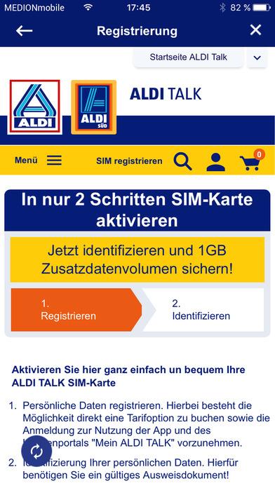 Aldi Karte.Aldi Talk Registrierung By Medion Ag