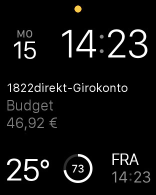 1822direkt-Kontoticker für iPhone und Apple Watch Screenshot