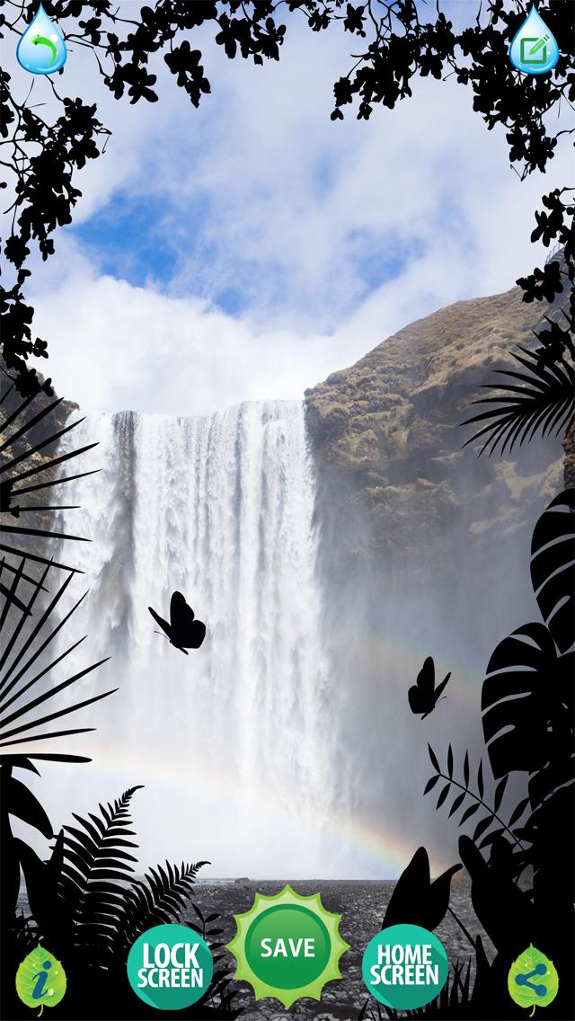 Wasserfall Tapeten Frei Schone Natur Hintergrunde Und