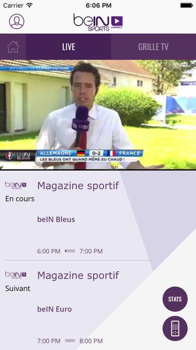 beIN SPORTS CONNECT Screenshot