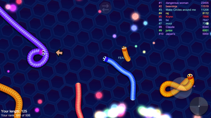 Emoji IO Snither Escape - Flappy Worm Eat Color Dot - War Dot Screenshot