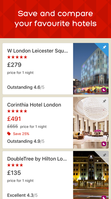Hotels.com - Hotel booking and last minute deals Screenshot