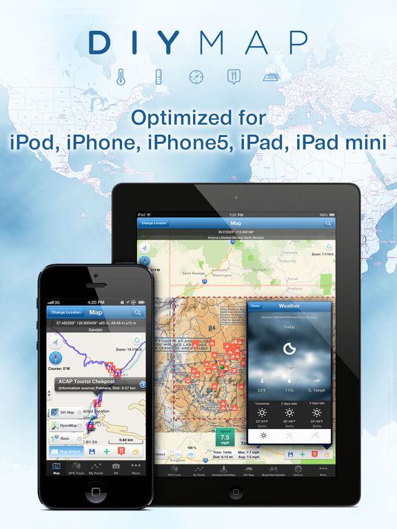 DIY Map GPS (App for World Travelers) Screenshots