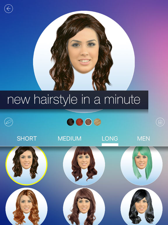 Pleasant Hair Makeover New Hairstyle And Haircut In A Minute On The App Store Short Hairstyles Gunalazisus