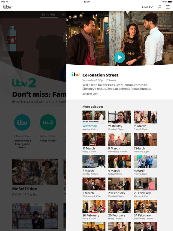 ITV Hub IPA Cracked for iOS Free Download