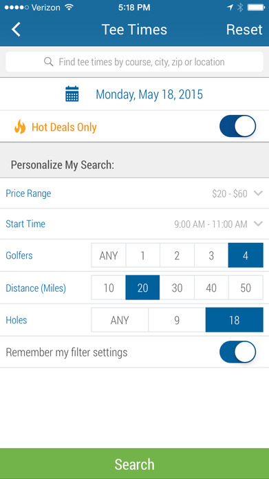 GolfNow – Book Tee Times, On Course GPS, Scorecard Screenshot