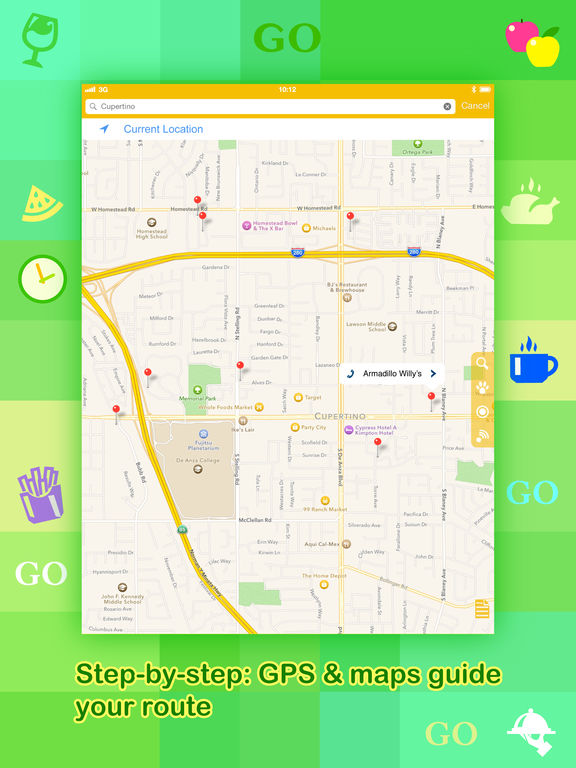 Where To Go? - Find Points of Interest using GPS. Screenshot