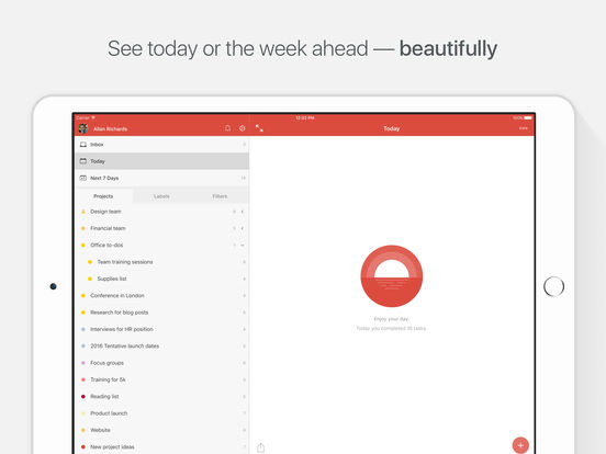 Todoist: Todo List for Organizing Work and Errands Screenshot
