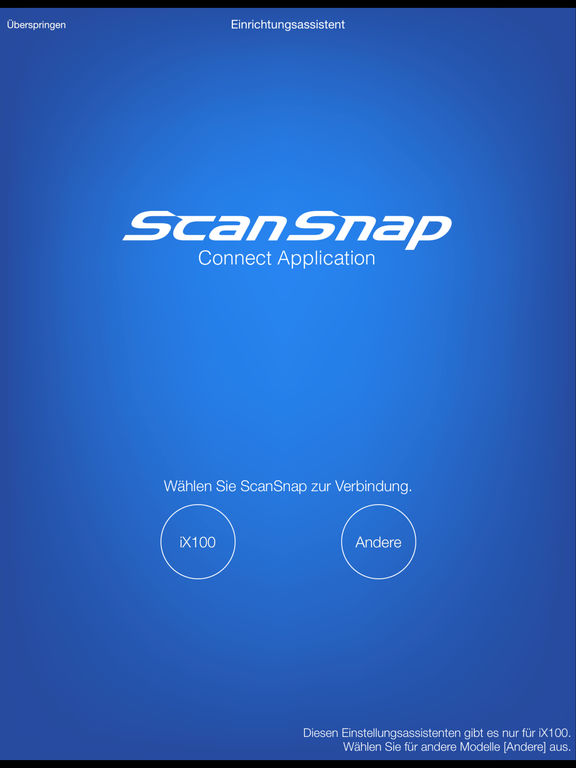 ScanSnap Connect Application Screenshot