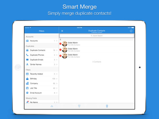 Smart Merge Pro - Cleanup Duplicate Contacts Screenshot