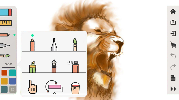 Drawing Desk - Draw, Paint, Doodle & Sketch board Screenshot