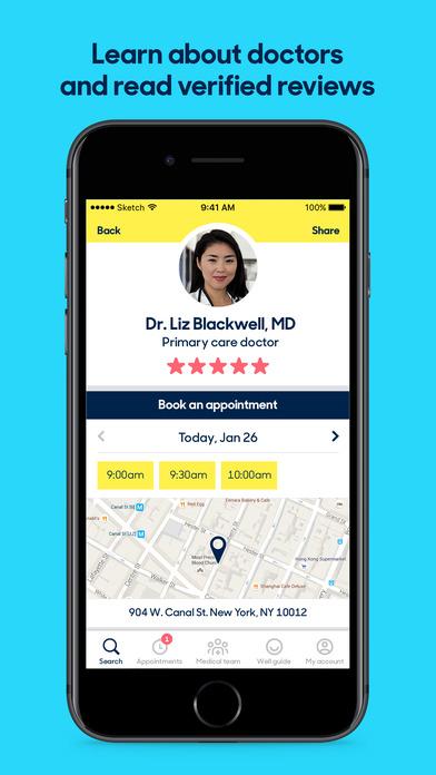 Zocdoc: Find & book a doctor Screenshot