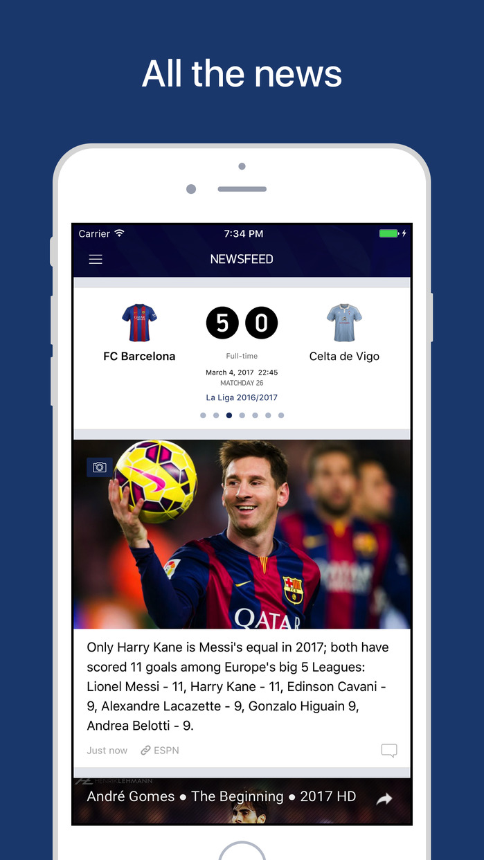 Barcelona Live – Scores & News for Barca FC Fans Screenshot