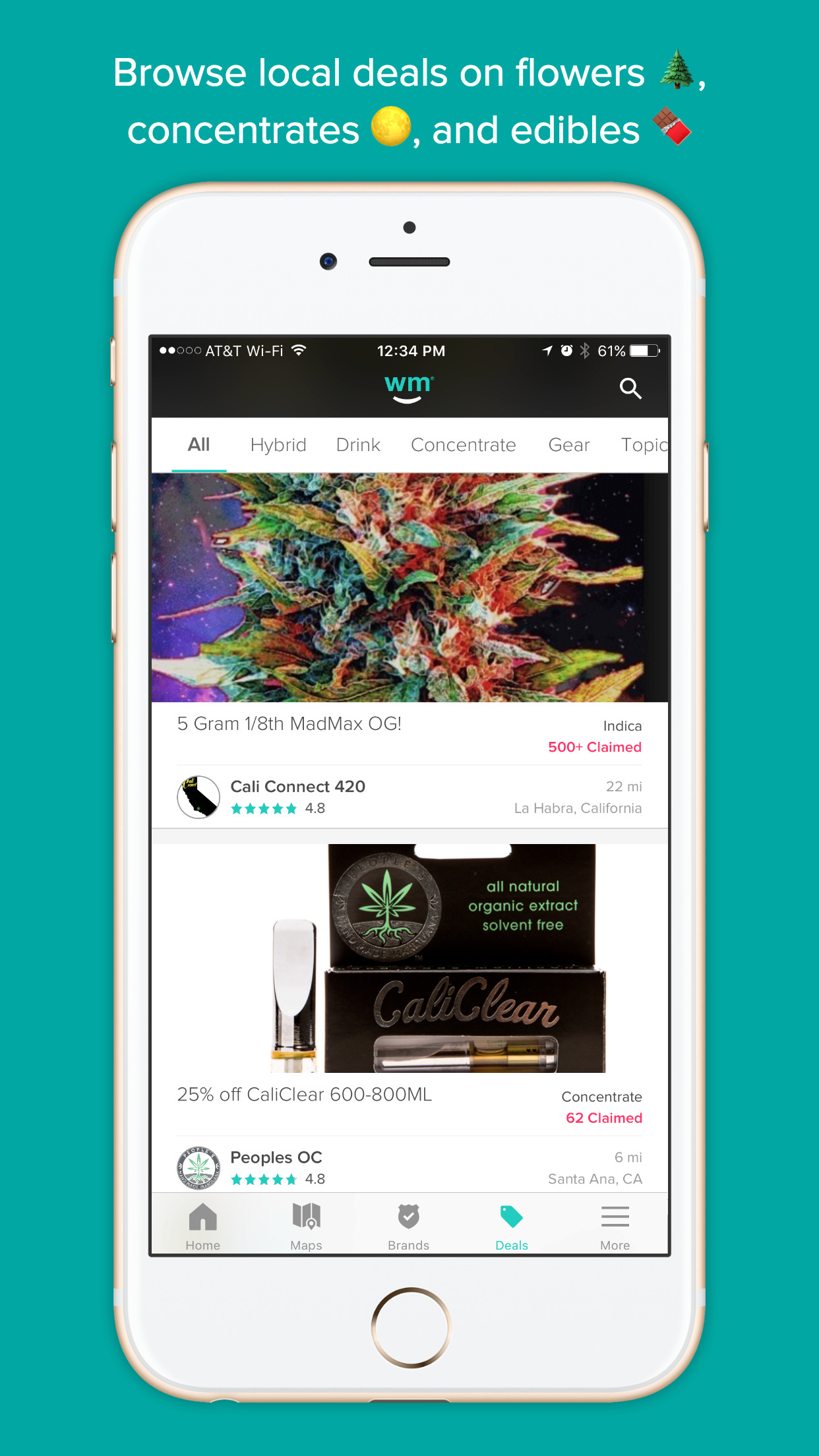 Weedmaps: Marijuana dispensaries and weed strains Screenshot