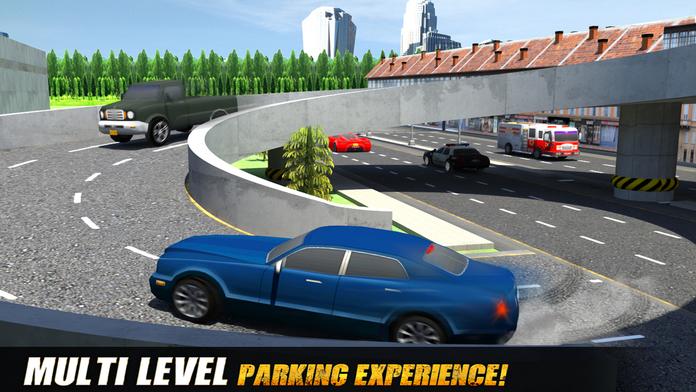 Multi-Level Sports Car Parking Simulator 3D Game Screenshot