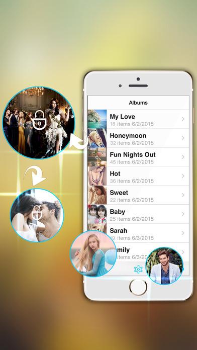 Lock Secret Photo - Safe Foto Password Vault App Screenshot