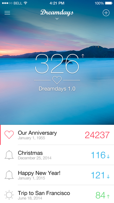Lite All New Dreamdays - Countdown to the Days that Matter Screenshot