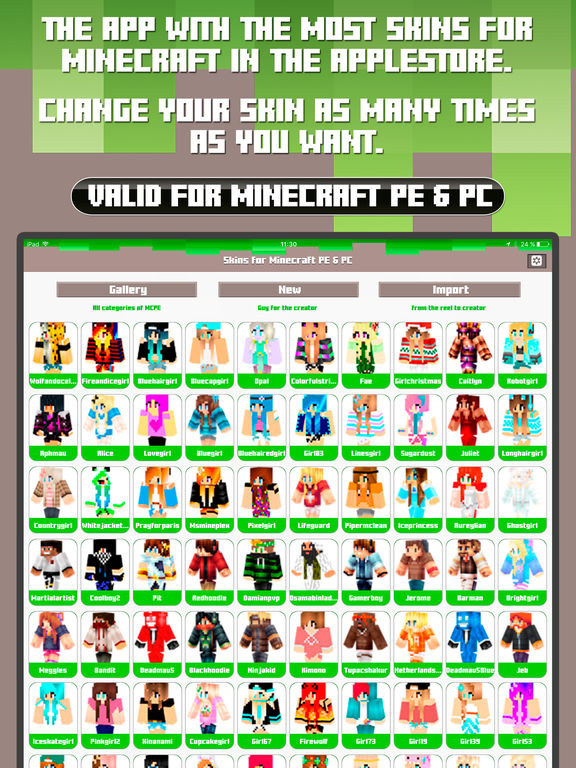Skins for Minecraft PE & PC - Free Skins Screenshots