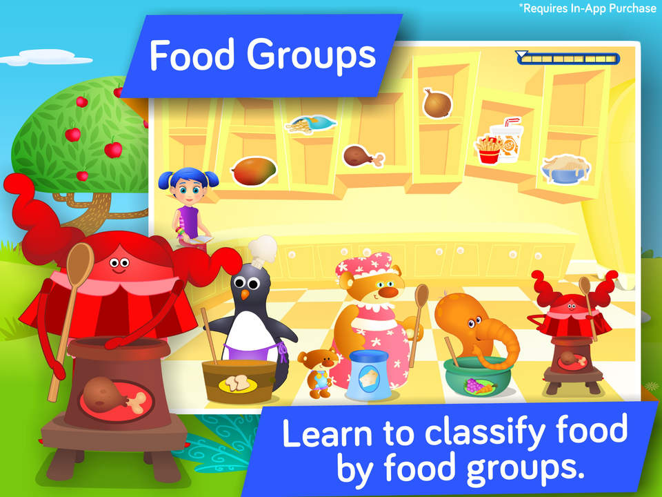 educational games to teach kids in preschool and kindergarten about food and a balanced diet by i learn with revenue download estimates app store