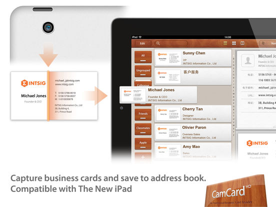 Camcard hd business card scanner reader app store revenue ipad reheart Choice Image