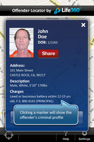 Sex Offender Search | iPhone Utilities apps | by Life360