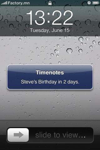 Timenotes Screenshot