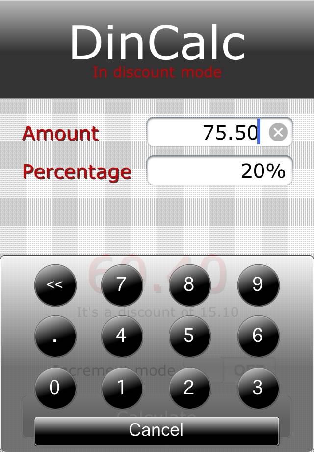 DinCalc Screenshot