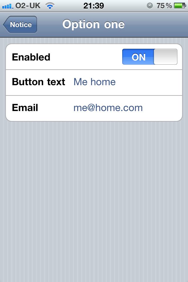 Notice – text notes with Dropbox and TextExpander Screenshot