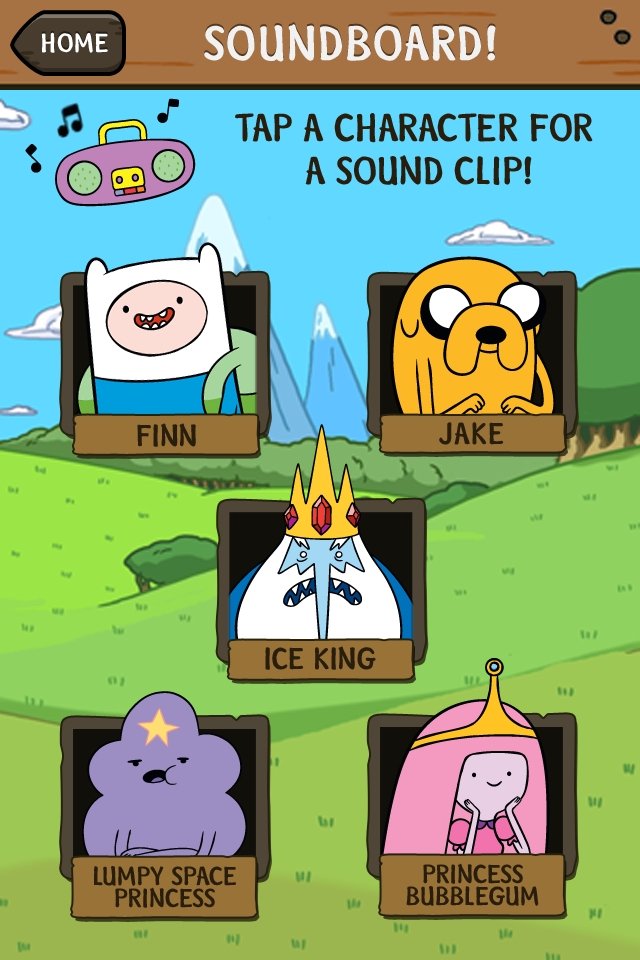 Adventure Time Soundboard Amp Photo Stickers Iphone