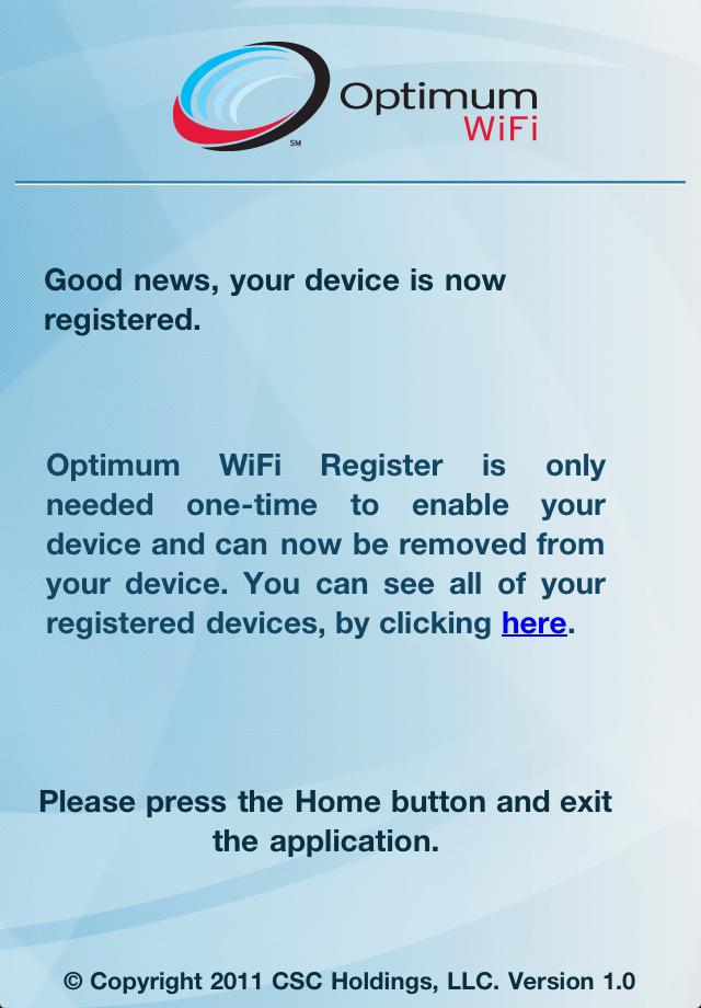App Shopper: Optimum WiFi Register (Utilities)