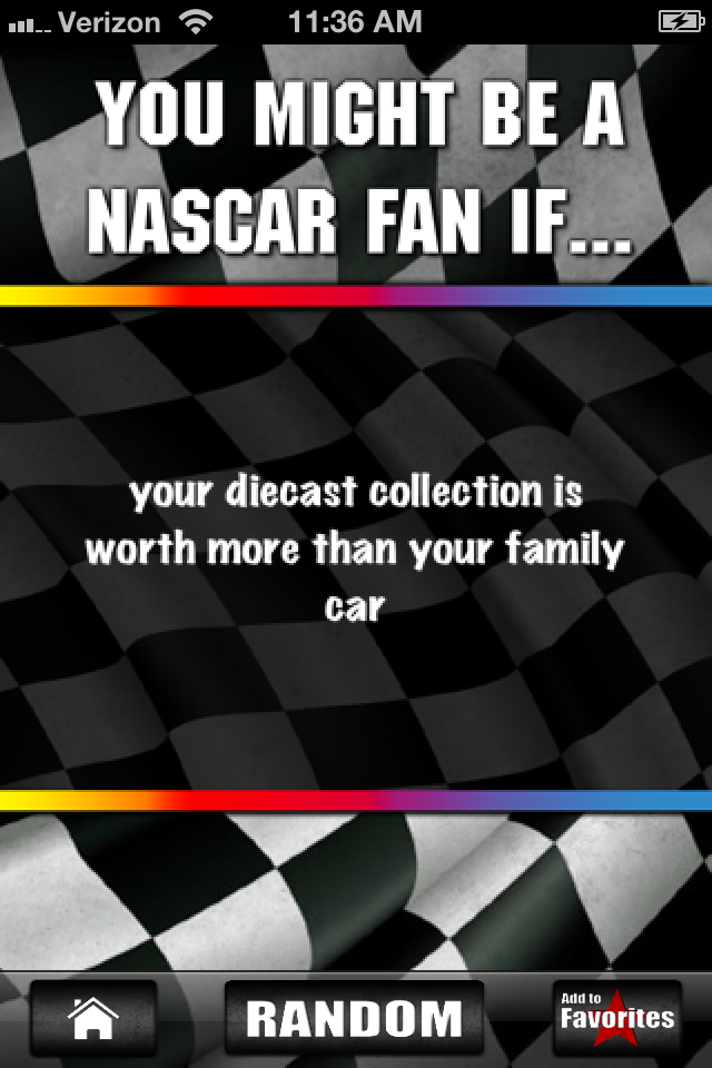 Nascar Jokes! - 2012 Edition | iPhone Lifestyle apps | by ...