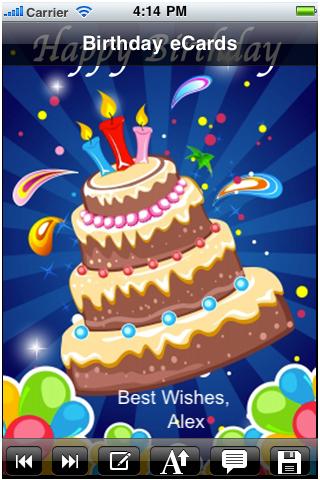 Happy Birthday Cards Send Greetings ECard Custom Card
