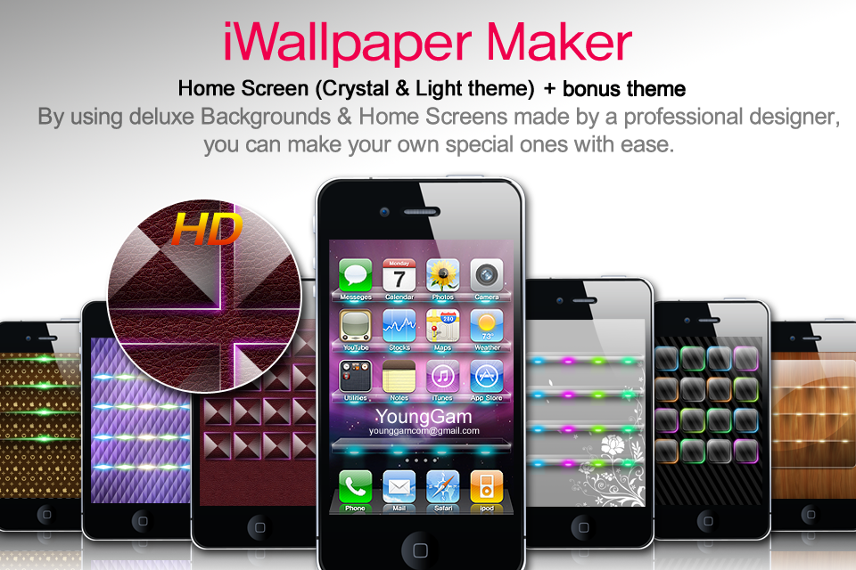 Create Awesome wallpapers / iWallpaper Maker - Crystal Light