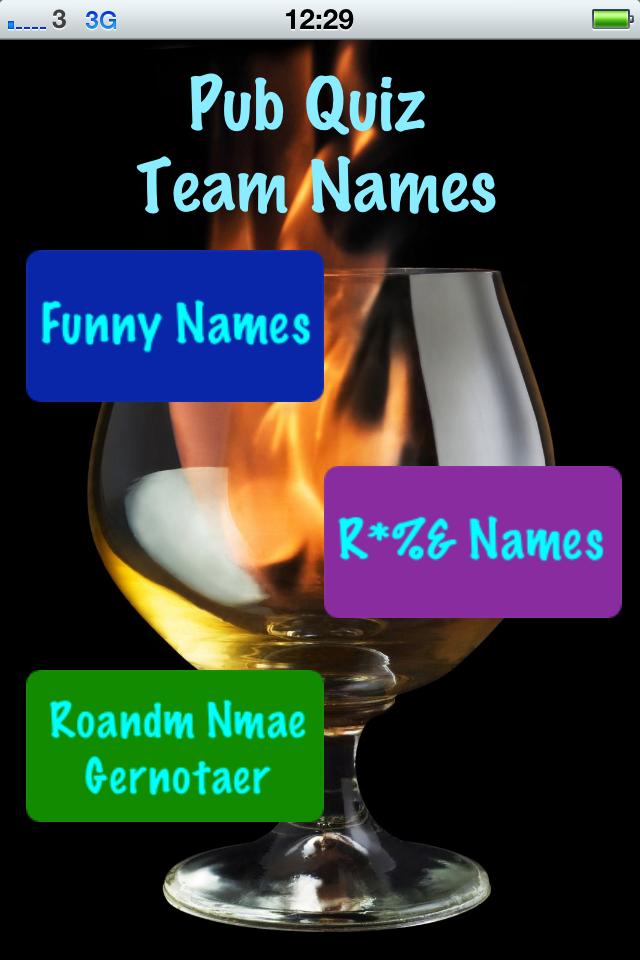QuizName - Pub Quiz Team Name Generator