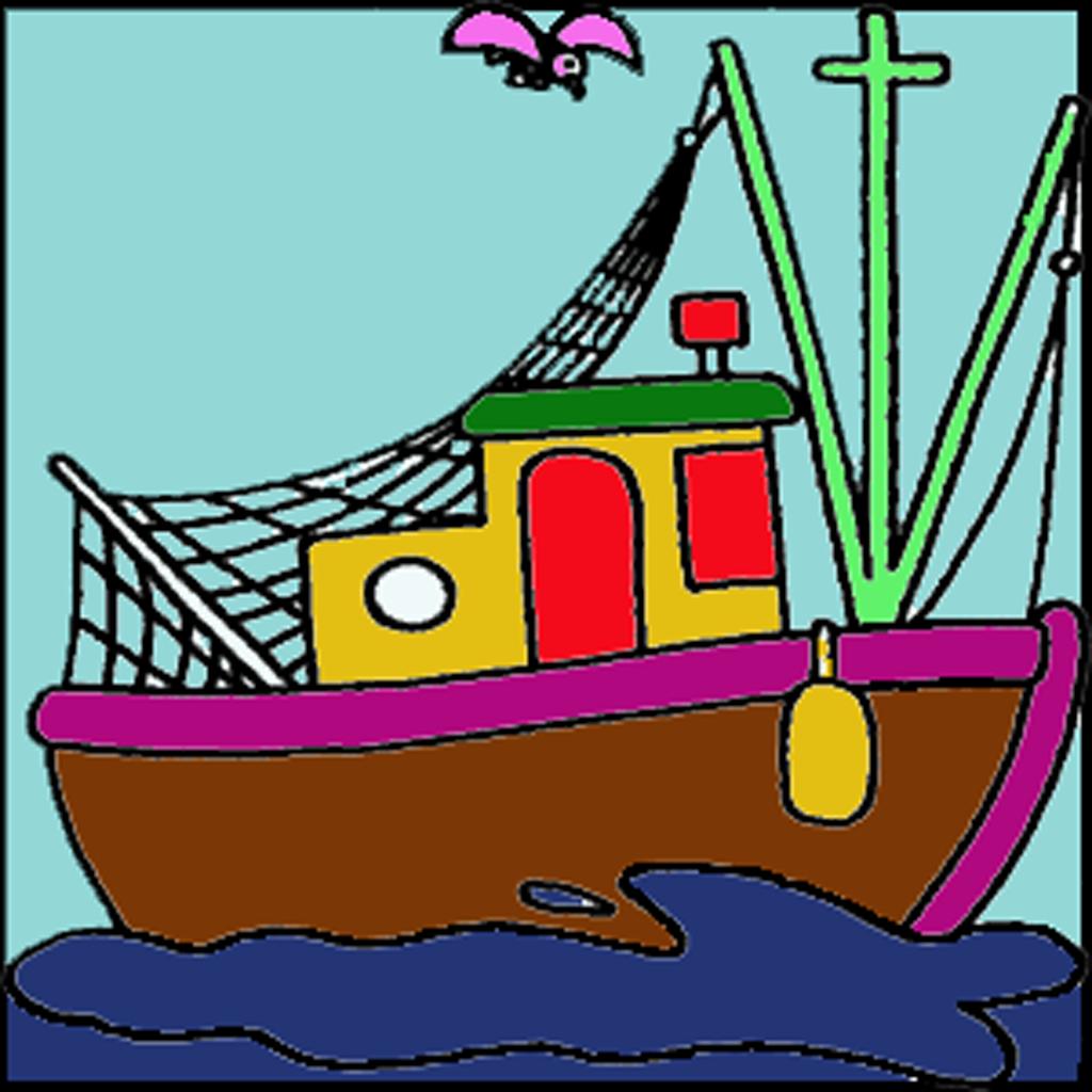 Eğitici Boyama Kitapları Serisi 3 Deniz Taşıtları For Iphone
