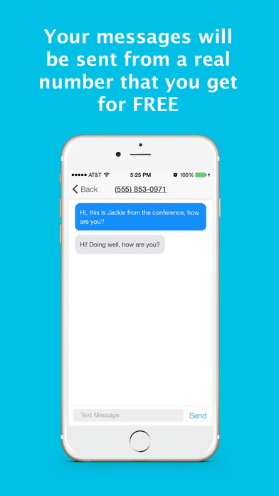 Smiley Private Texting - send private sms messages from a