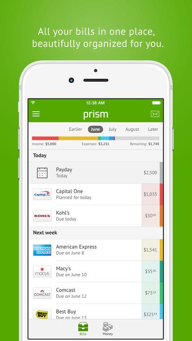 Prism Bills & Money - Pay bills for free, check account balances, & track your paydays Screenshot