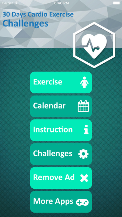 30 Day Cardio Workout Challenge App For Cardiovascular System With Fitness Guidelines Screenshot On IOS