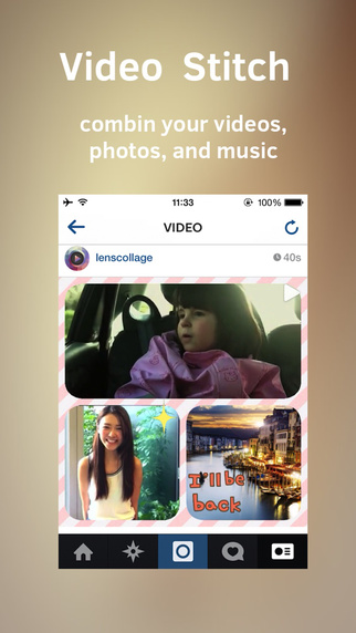 iOS APP】Clip Stitch 2 Video Collage Maker for Instagram
